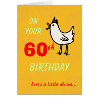 Spring Chicken 60th Birthday Card