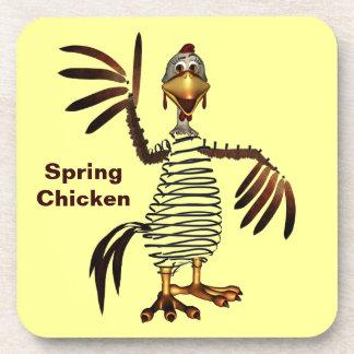 Spring Chicken Beverage Coaster