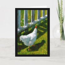 SPRING CHICKEN BIRTHDAY: ART CARD