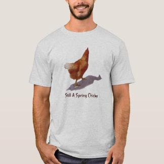 Spring Chicken:Chicken in Oil Pastel, Freehand Art T-Shirt
