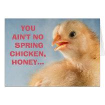 Spring Chicken Ladies Milestone 50th  Birthday Card