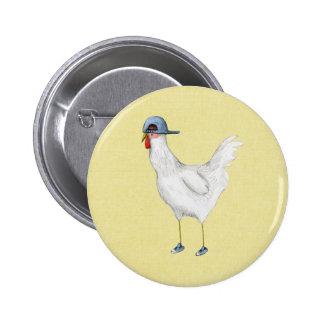 Spring Chicken Pinback Button