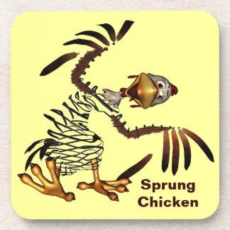 Spring Chicken Sprung Beverage Coaster