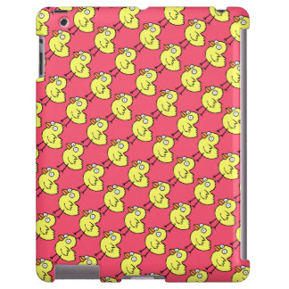 Spring Chickens  Yellow Chicks Pattern on Hot Pink