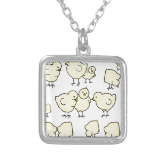 Spring Chicks by Kindred Design Silver Plated Necklace