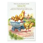"""Spring Chicks Invitation 5"""" X 7"""" Invitation Card"""