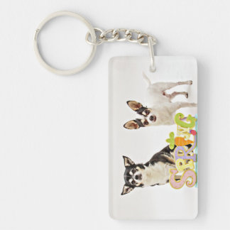 Spring Chihuahua's Keychain