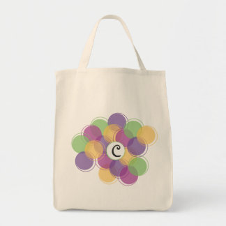 Spring Circles Monogrammed Bag