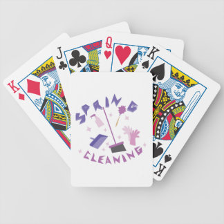 Spring Cleaning Bicycle Playing Cards