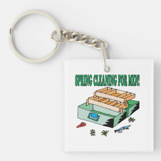 Spring Cleaning For Men Keychain