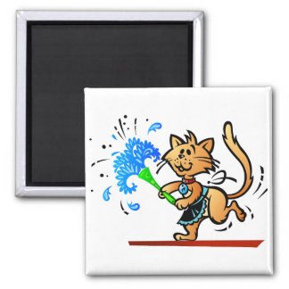 Spring Cleaning Kitty Cat Magnets