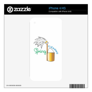 Spring Cleaning iPhone 4S Decals