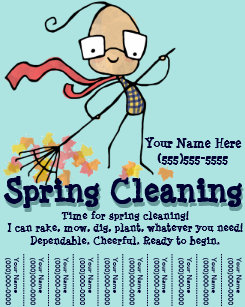 yard work flyers zazzle