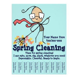 Spring Cleaning. Yard Work Promotional flyer