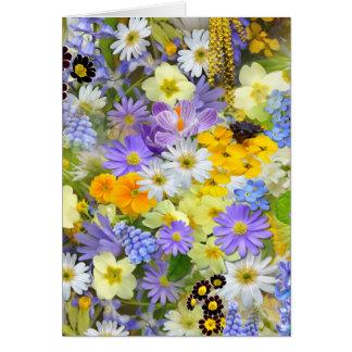Spring Collage Greeting Card