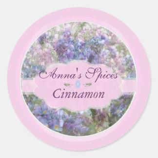 Spring Collage with Pink Round Sticker