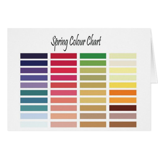 Spring Color Chart Card