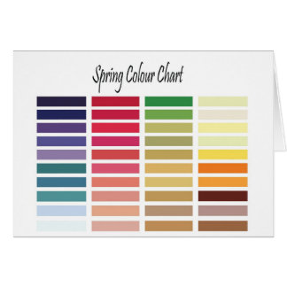 Spring Color Chart Greeting Card