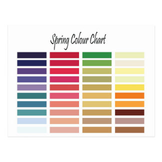 Spring Color Chart Postcard