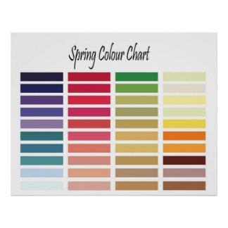 Spring Color Chart Poster