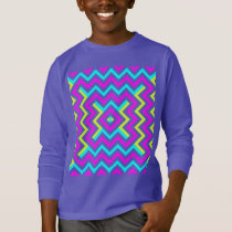 Spring color Chevron pattern T-Shirt
