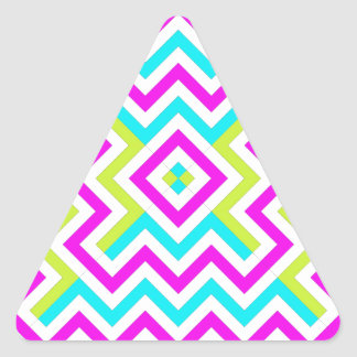 Spring color Chevron pattern Triangle Sticker