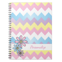 Spring Colored Chevron Stripes Notebook