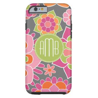 Spring Colorful Floral Pattern Custom Monogram Tough iPhone 6 Case