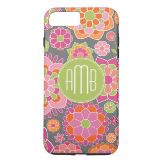 Spring Colorful Floral Pattern Custom Monogram iPhone 7 Plus Case