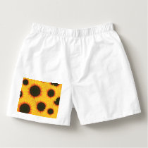 Spring colorful pattern sunflower boxers