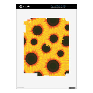 Spring colorful pattern sunflower decals for iPad 2