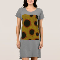 Spring colorful pattern sunflower dress