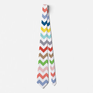 Spring Colors Chevron Stripes Neck Tie