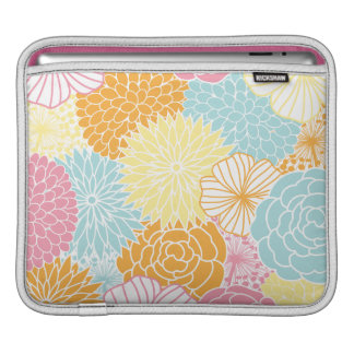 Spring Colors Mod Floral Sleeve For iPads