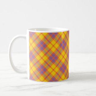 Spring Colors Plaid Pattern Mug