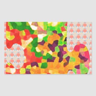 SPRING COLORS: Puzzle Quiz Game ART lowprice GIFTS Rectangular Stickers