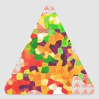 SPRING COLORS: Puzzle Quiz Game ART lowprice GIFTS Triangle Sticker