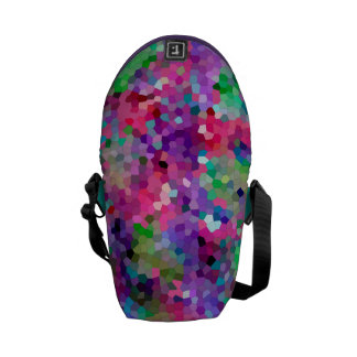 Spring Colors Stained Glass Pattern Messenger Bag