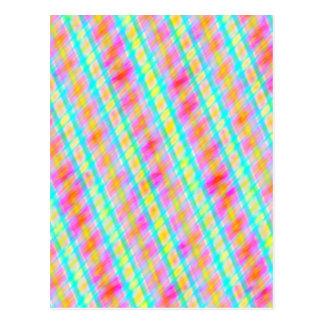 Spring Colours Multi Thread Digital Art Postcard