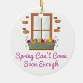 Spring Come Soon Ceramic Ornament