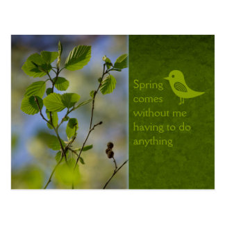 Spring comes anyway CC0836 Relaxing words Postcard