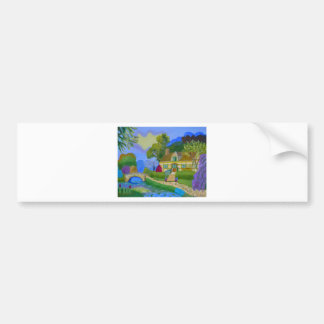 Spring Cottage Bumper Sticker