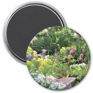 Spring Cottage Garden Fern Bleeding Hearts Magnet