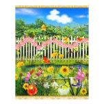 spring cottage garden letterhead design
