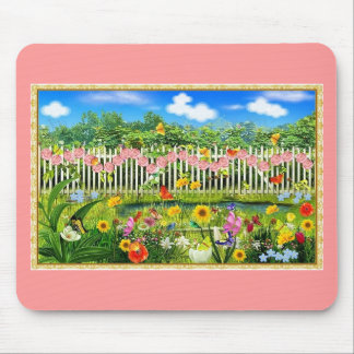spring cottage garden mouse pad