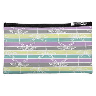 Spring countryside dragonflies colorful rainbow cosmetic bag