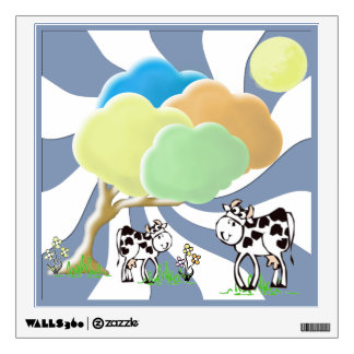 Spring Cow and Calf Wall Decal