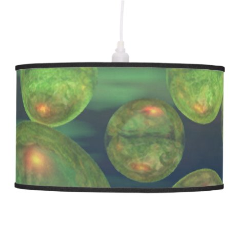 Spring Creation, Abstract Green Gold Renewal Ceiling Lamp
