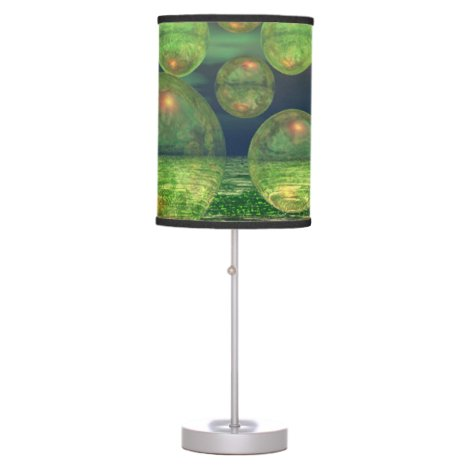 Spring Creation, Abstract Green Gold Renewal Table Lamp
