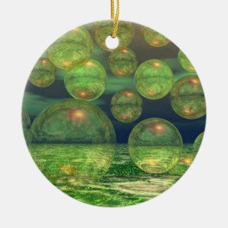 Spring Creation – Green & Gold Renewal 2 sides Ceramic Ornament